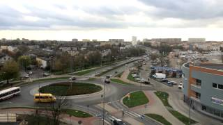 preview picture of video 'Time-lapse iPhone 5s 6 Plus, cars at roundabout Piotrków Trybunalski'