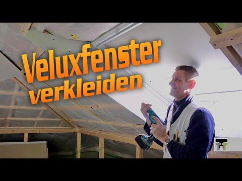 Velux Fenster verkleiden in Trockenbau  / Dachflächenfenster/Roof windows lining. / Hobein