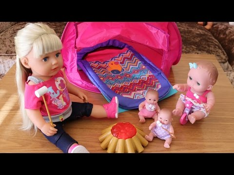 Baby Dolls Go Camping Marshmallow Camp Fire Sleeping Bag Baby Born Camping Set