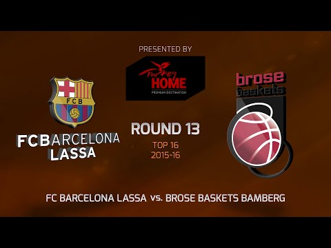 Highlights: Top 16, Round 13, FC Barcelona Lassa 75-57 Brose Baskets Bamberg