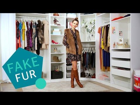 Fake Fur Outfits » So stylt ihr unechten Pelz » Mega schöne Mode Looks   Stylight