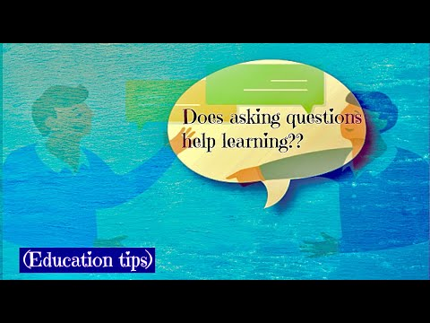 Does ASKING questions in class help learning??