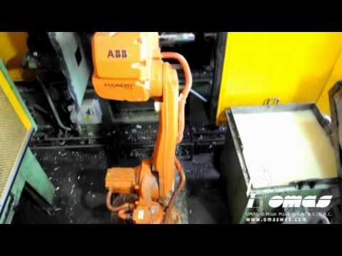 Pinza di presa a tre griffe Omas e robot ABB