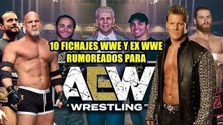 10 LUCHADORES RUMOREADOS PARA AEW CON PRESENTE O PASADO EN WWE - LOS 10 POSIBLES FICHAJES