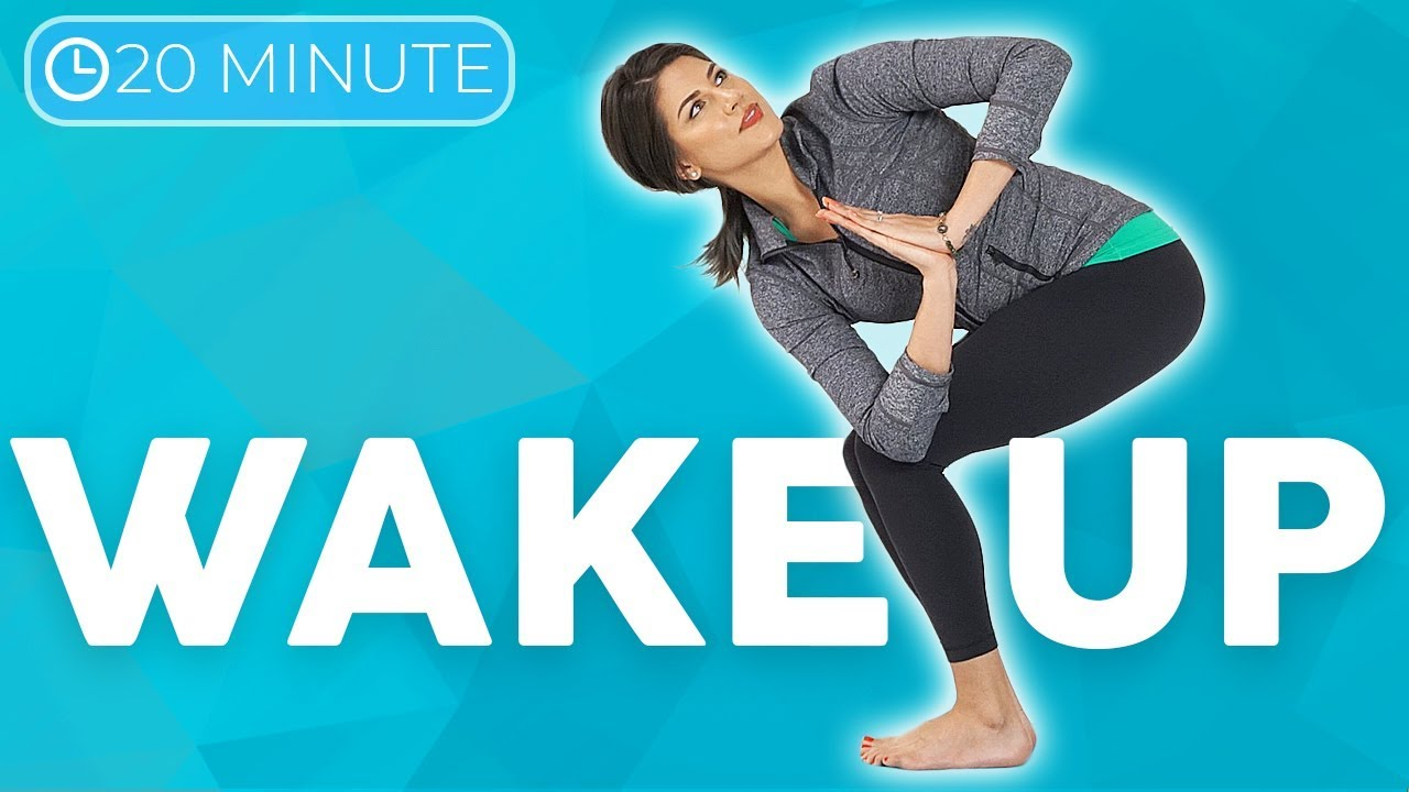 20 minute Morning Yoga Full Body Flow 💙 WAKE UP with Intention