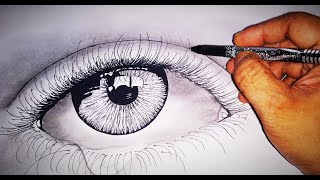Tutorial 1: How to draw realistic eyes having tears of happiness☺✨