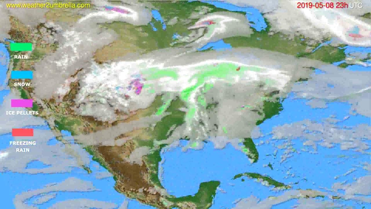 Precipitation forecast USA & Canada // modelrun: 12h UTC 2019-05-05