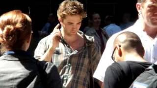 Помни меня, Robert Pattinson on the set of 'Remember Me'