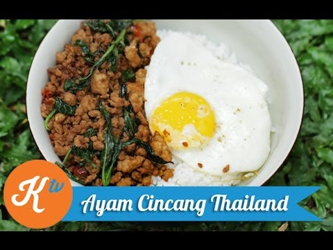 Resep Ayam Cincang Thailand (Thai Minced Chicken/Pad Krapow Recipe Video) | STANLEY MARCELLIUS