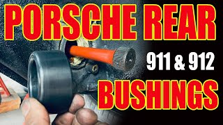 Porsche 911 912 REAR BUSHING REPLACEMENT-Suspension Rebuild Torsion Bar Swing Plate Set Ride Height