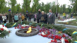 Мітинг присвячений 76-ій річниці з Дня Перемоги у Другій світовій війні у Рубіжному