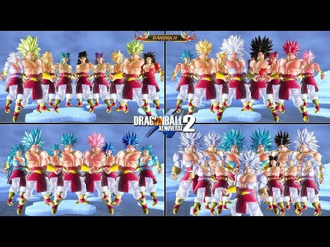 Broly 36 Transformations Best Mod Dragon Ball Xenoverse