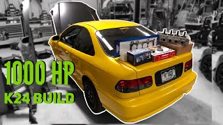 1000HP K24 AWD CIVIC BUILD STARTS NOW!