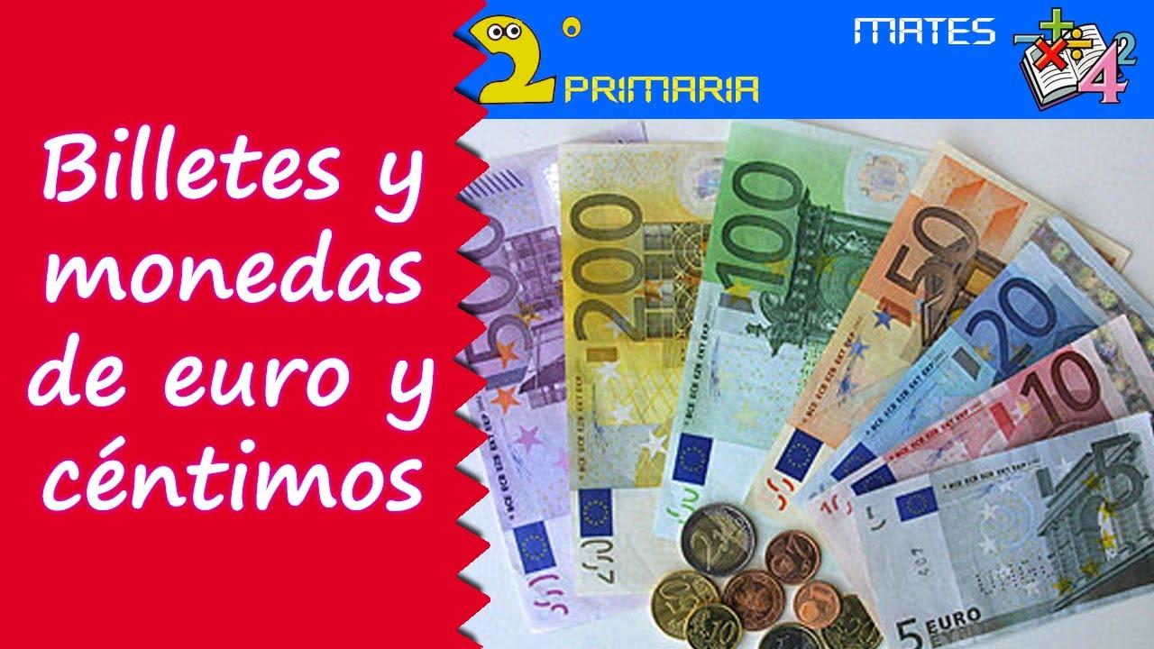 Matemáticas. 2º Primaria. Tema 7. Monedas y billetes de euro y céntimos