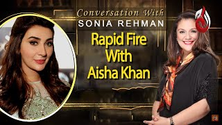Rapid Fire With Aisha Khan | Sonia Rehman | Aisha Khan | Best Scene