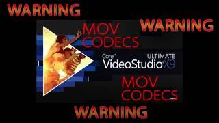 Corel Video Studio 9,8,7,6,etc. QuickTime removal & MOV Codecs