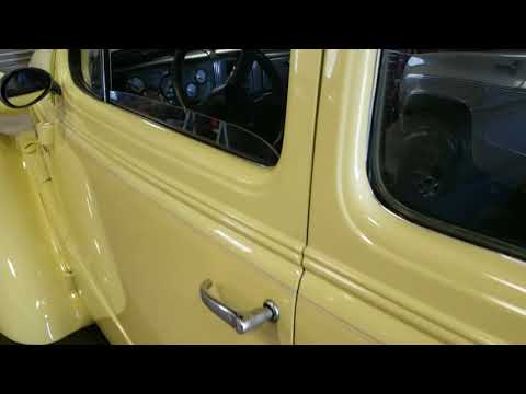 1937 Chevy 2 Door sedan Yellow