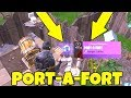 How To FIND PORT-A-FORT EASY! Port-A-Fort Gameplay Fortnite Battle Royale!