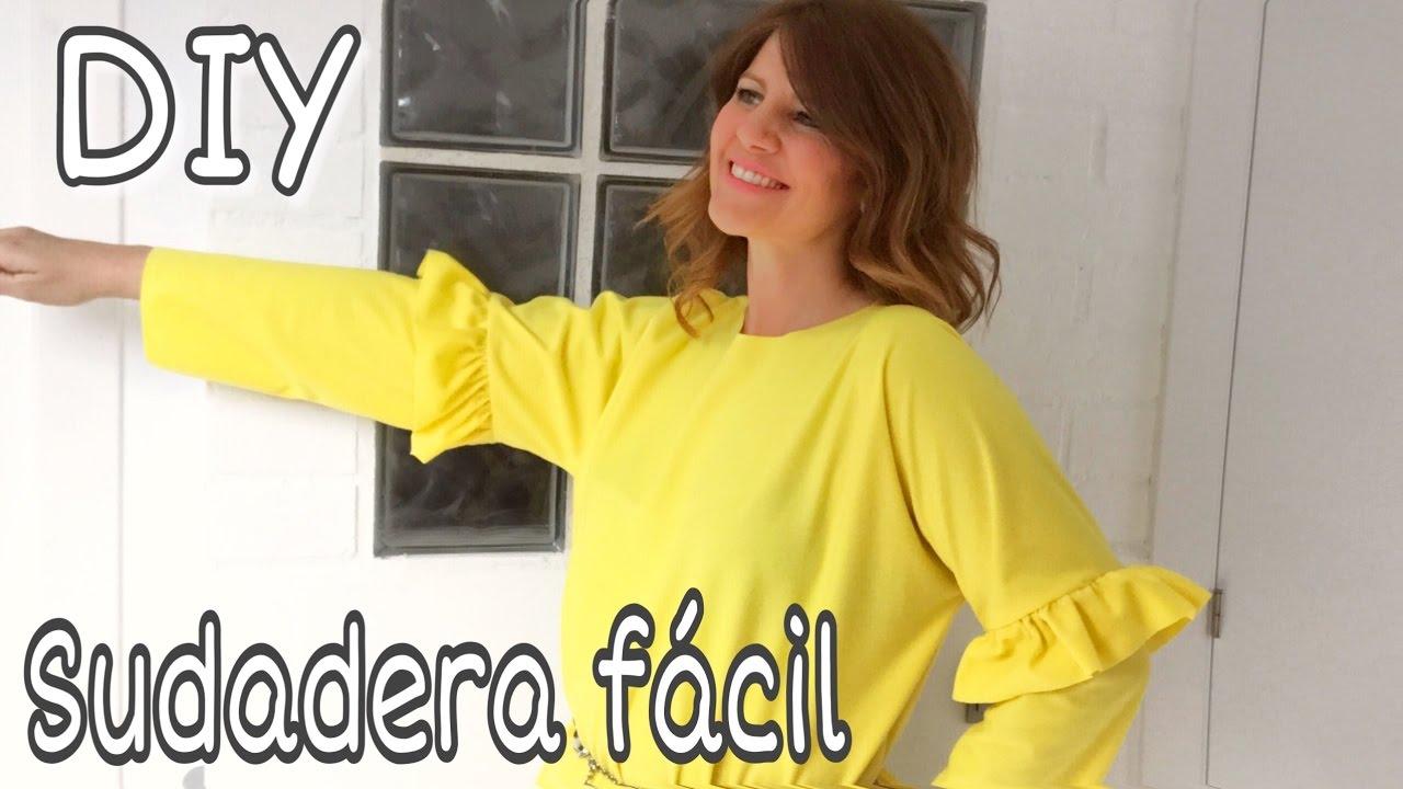 DIY La sudadera con volantes más fácil del mundo / Coser fácil
