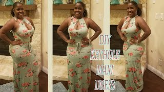 DIY Keyhole Maxi Dress