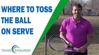 Where To Toss The Ball On Serve | TENNIS SERVE