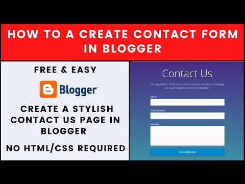 (2020 Edition) How To Create A Contact Form In blogger | No Coding Required | Simple & Easy