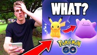 Ditto  - (Pokémon) - IT TURNED INTO DITTO?!? ($100 Pokemon Go Challenge)