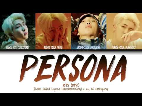 BTS RM - PERSONA (Color Coded Lyrics Han/Rom/Eng)