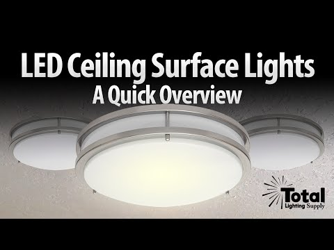 LED ceiling surface light overview LED-JR satin nickel series