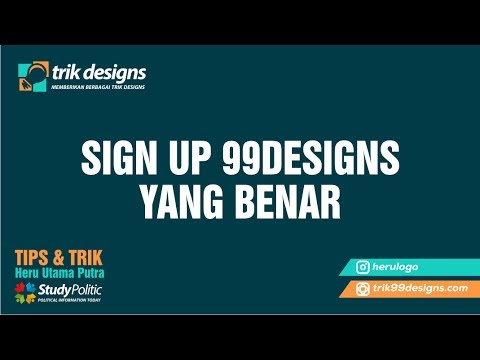 Video 99designs, HOW TO REGISTER AT 99DESIGNS FOR BEGINNER !!!