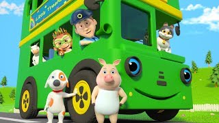 Wheels On The Bus | Nursery Rhymes & Children Songs | Kindergarten Cartoons By Little Treehouse