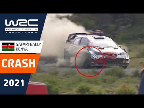 大きなダメージをおったトヨタのエバンス WRC 2021 WRC第6戦ラリー・ケニア