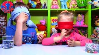Видео для детей. ЧЕЛЕНДЖ от Ярославы и Игорька. Игры для детей. Challenge. Tiki Taki Cook