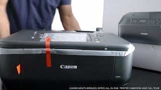 CANON MX475 WIRELESS OFFICE ALL- IN -ONE  PRINTER UNBOXING AND FULL TOUR