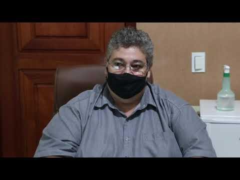 Secretario Ivaine Molina fala sobre audiência pública.