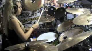 Chick drummer playing Children of Bodom's Bastards of Bodom