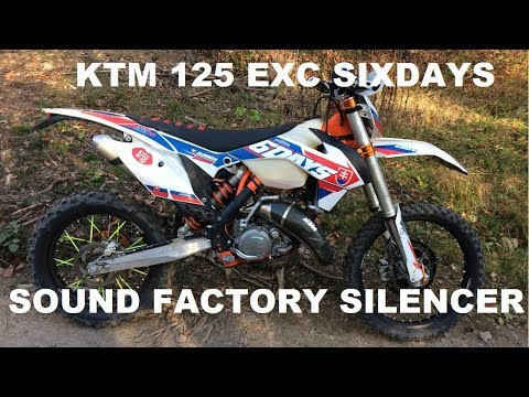 KTM 125 EXC SIX DAYS 2016 sound factory silencer