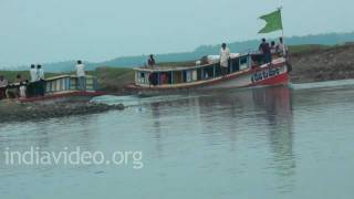 Boating in  River Krishna, Andhra Pradesh
