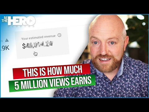 Here's How Much YouTube Paid Me For FIVE MILLION Video Views