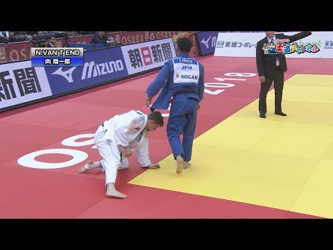 男子90kg級決勝 柔道グランドスラム大阪