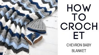 Crochet Easy Chevron Stitch Baby Blanket