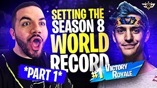 SETTING THE SEASON 8 WIN STREAK WORLD RECORD?! - PART ONE?! (Fortnite: Battle Royale)