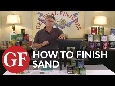 How to Finish Sand Wood