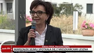 Wideo1: Spotkanie Marszałek Sejmu Elżbiety Witek z mieszkańcami Leszna