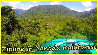 Zipline in Yanoda Rainforest, Sanya, Hainan Review. Travel of China Vlog