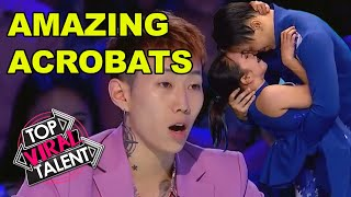HEARTWARMING PERFORMANCE!!! By AMAZING ROMANTIC ACROBAT DUO on Asia's Got Talent