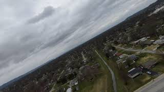 DJI FPV Drone zipping around on a cloudy day!