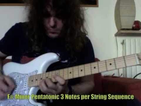 Roberto Vanni: 3 (F# Minor) & 2 Notes (A Minor) per String Minor Pentatonic with Alternate Picking