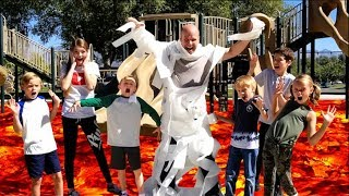 Lava Monster Tag With That YouTub3 Family! Halloween Playground Game