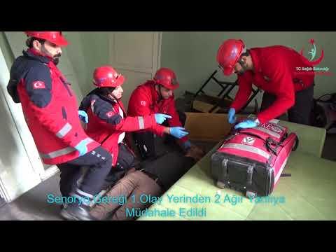 Şanlıurfa İl Sağlık Müdürlüğü 2018 Deprem Konulu Masa Başı ve Saha Tatbikatı (uzun versiyon)